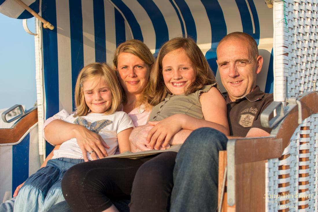 Fotograf Spiekeroog - Familienfotoshooting - Strandkorb