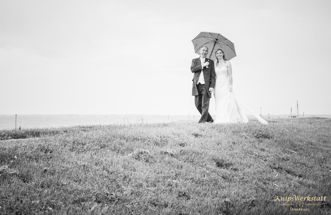 Hochzeit Neuharlingersiel - Hochzeitsfoto auf dem Deich