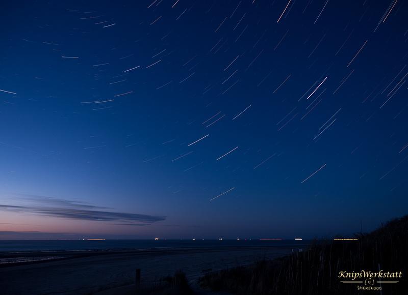 Sternenhimmel, Sternenspuren P5070052