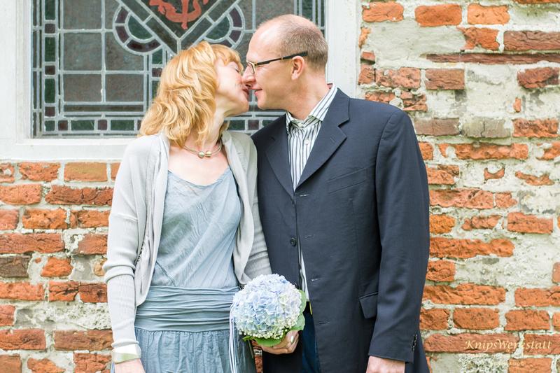 Hochzeitsfotos Spiekeroog - Kuss